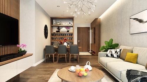 Không gian căn hộ Hateco Xuân Phương