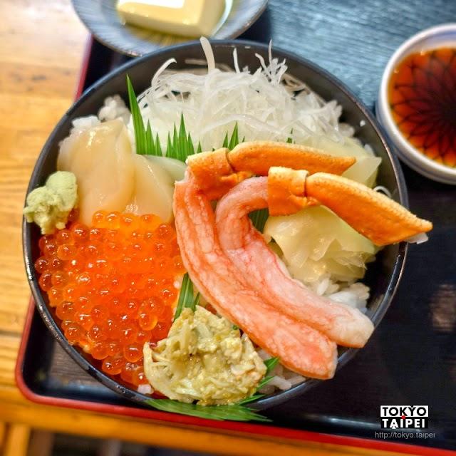 【夢廣場】北方的新鮮海產餐廳 三色丼超豐盛