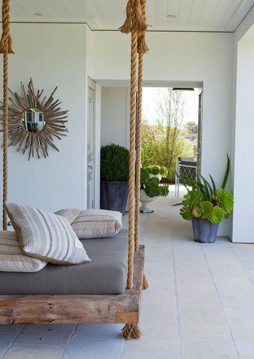 Hanging Bed Porch Simple DIY Wood Platform