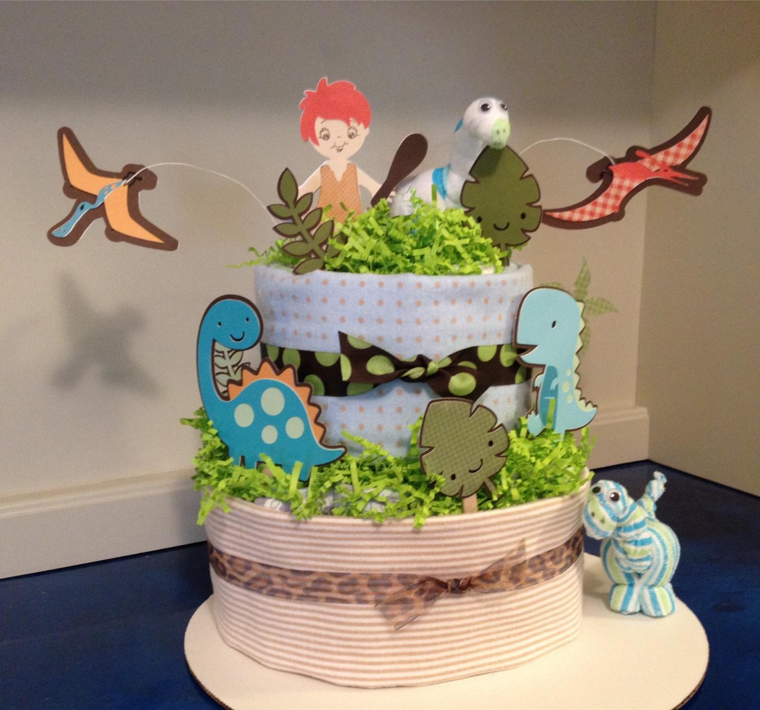 Marilyn S Crafts Dinosaur Diaper Cake