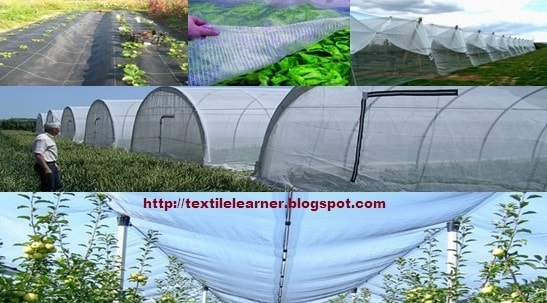Different agro-textile products