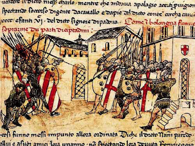 Guelf and Ghibelline Factions fighting in Bologna