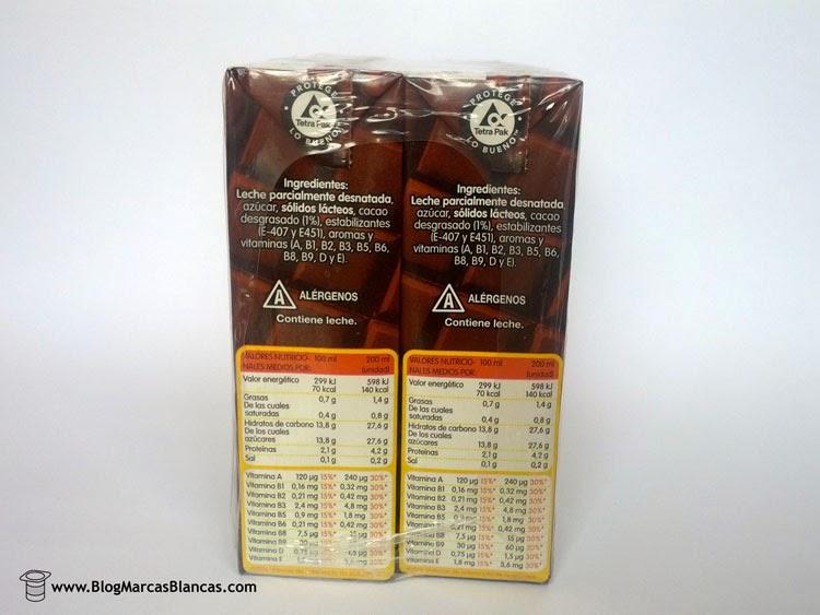 batido chocolate hacendado sin lactosa