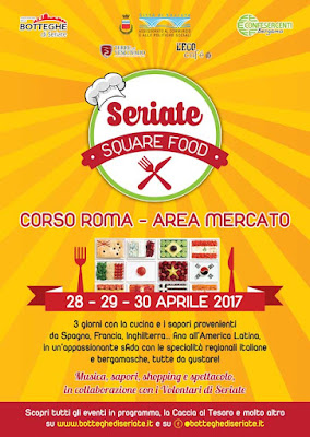 Square Food: cucina europea e latino americana  28-29-30 aprile Seriate (BG)
