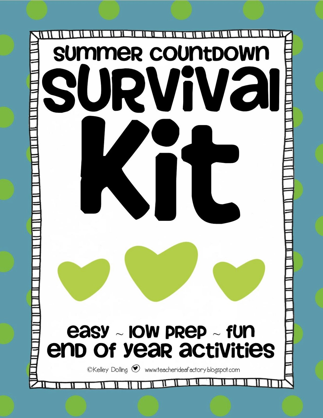 SUMMER COUNTDOWN SURVIVAL KIT END OF THE YEAR FREEBIE
