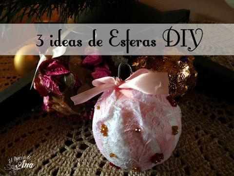 3 ideas de esferas navideñas diy