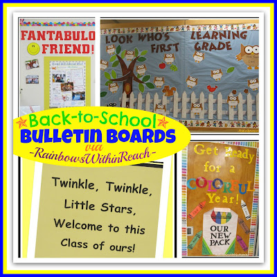 photo of: Back-to-School Bulletin Boards (RoundUP via RainbowsWithinReach)