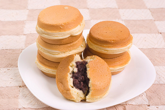 Japanese Cake With Red Bean