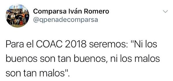 """La comparsa de Ivan Romero ,serán para el 2018, """"Ni los buenos son tan buenos ni los malos son tan malos"""""""