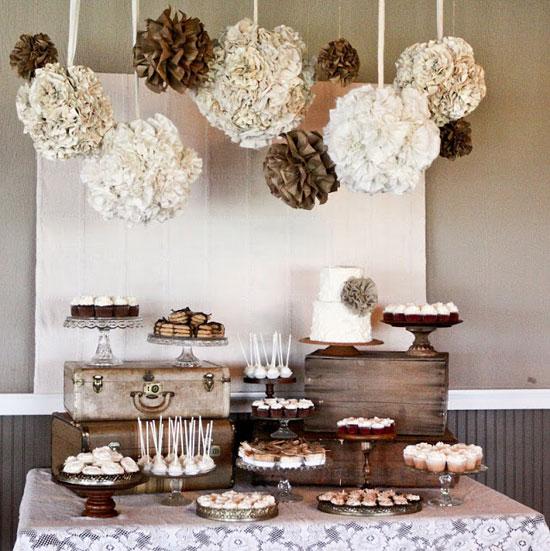 1920s Vintage Wedding Ideas: 'i Do' It Yourself: Rustic 1920s Dessert Bar