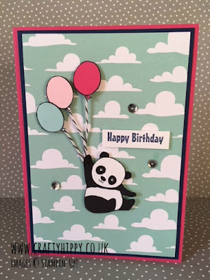 Make a Party Pandas card using the Party Pandas stamp set by Stampin' Up!