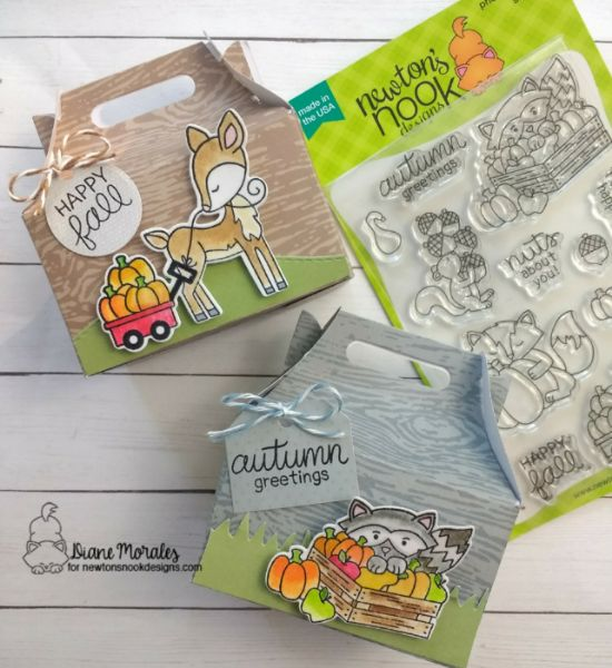 Happy Fall by Diane features Land Borders, Harvest Tales and Tags Times Two by Newton's Nook Designs; #newtonsnook
