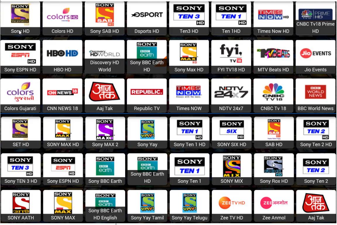9000+ Free HD INDIAN IPTV ,Sony Package,Zee package,Star