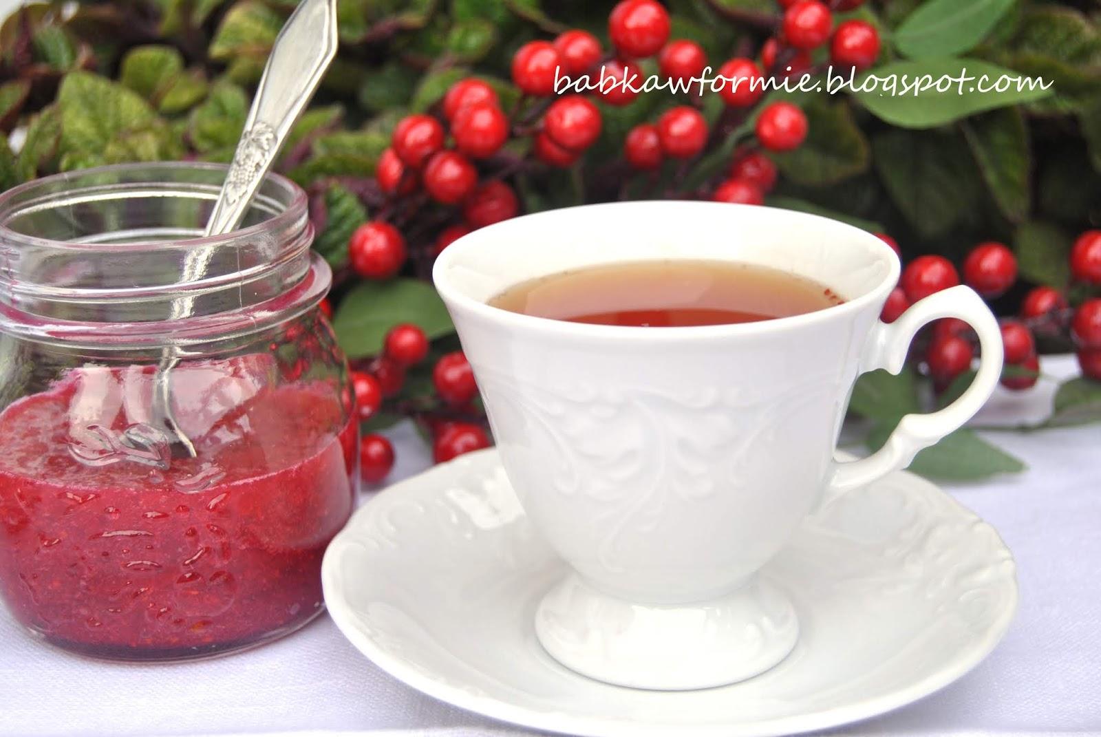 przetwory na zimę - żurawina do herbaty ucierana na zimno