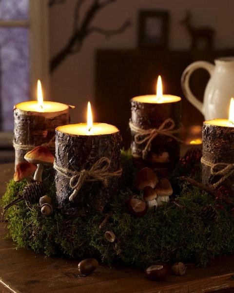 homestead revival simple natural advent wreath ideas. Black Bedroom Furniture Sets. Home Design Ideas