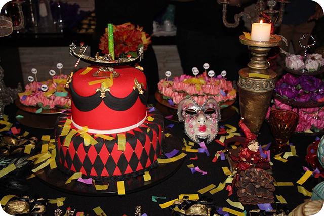 Decoração Baile de Máscaras Veneziano - Aniversário Mesa