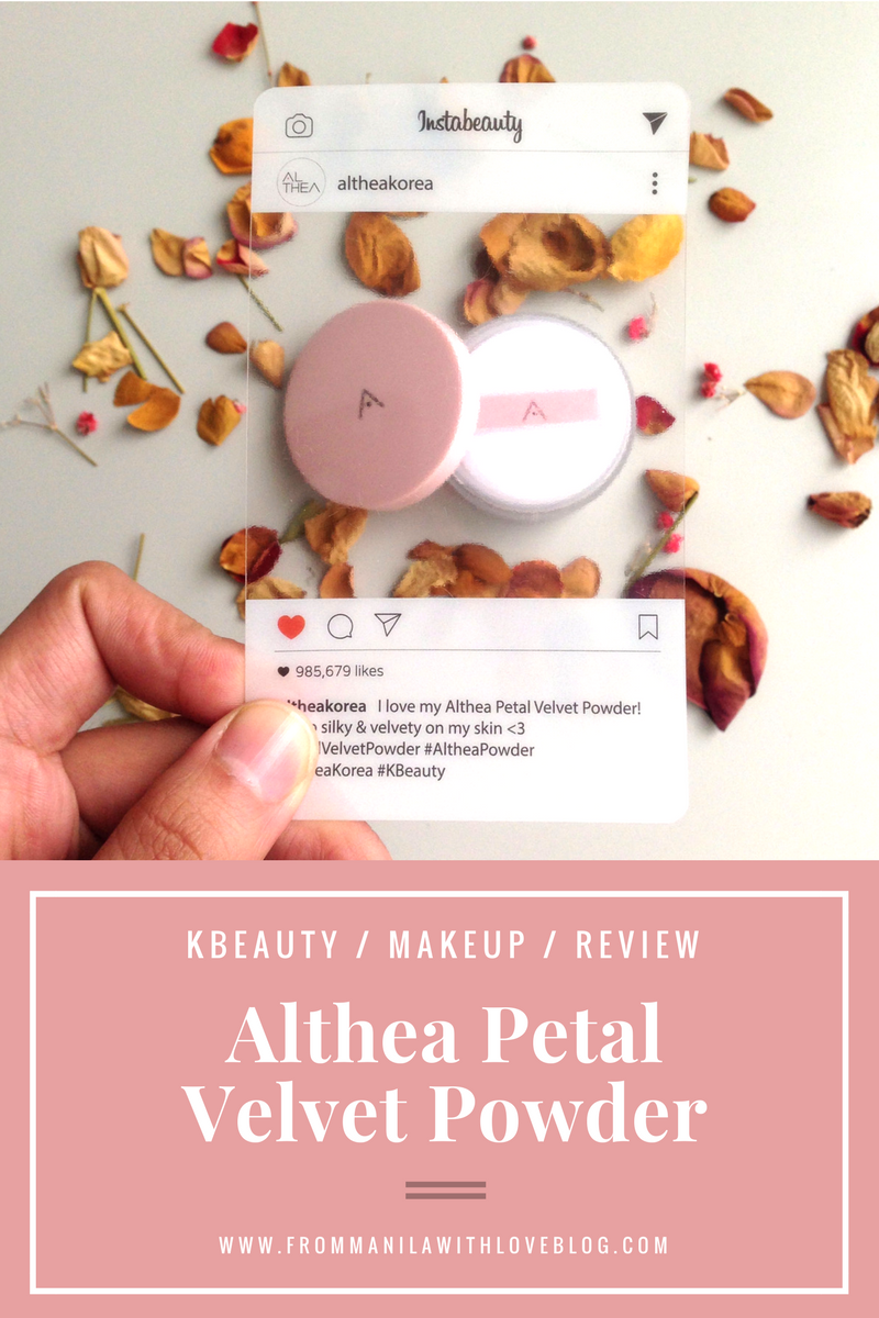 althea velvet powder review