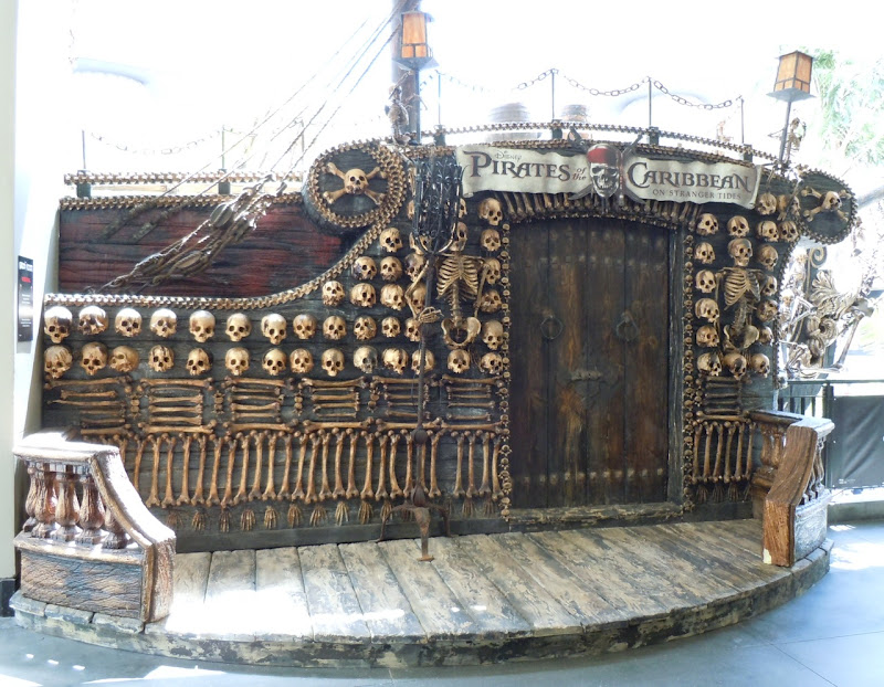 Pirates of the Caribbean mock ship deck