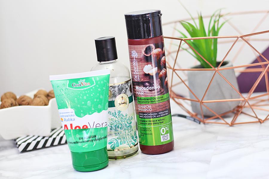 GorVita, Aloe Vera, Żel aloesowy & Dr. Santé - Szampon do włosów Olej Macadamia i Keratyna & Bania Agafii, Wzmacniający olej do włosów