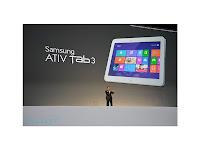 Spesifikasi dan Harga Tablet Samsung Ativ Tab 3 Terbaru 2013