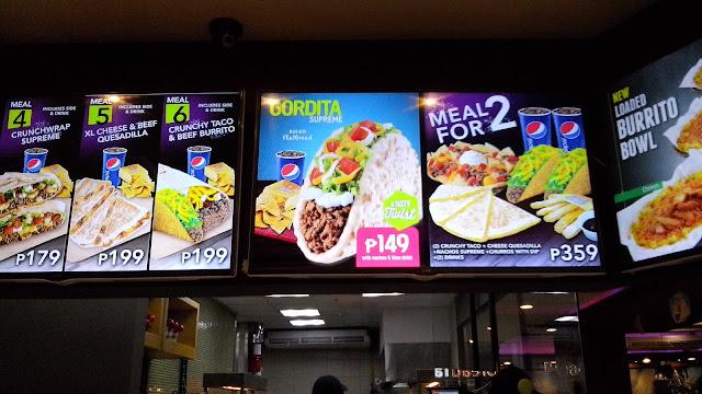 taco bell philippines menu