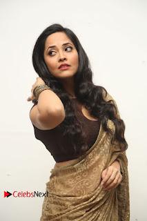 Actress Anchor Anasuya Pictures in Saree at Nirmala Convent Audio Launch  0048
