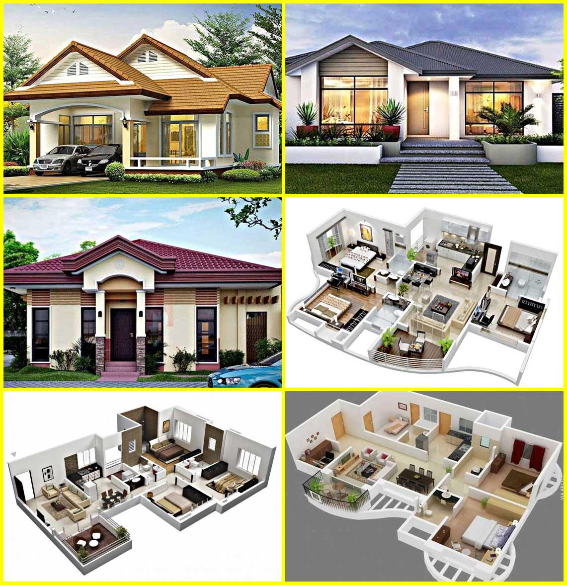6 Inspirasi Denah Desain Rumah Minimalis Type 60 Terbaru Modern