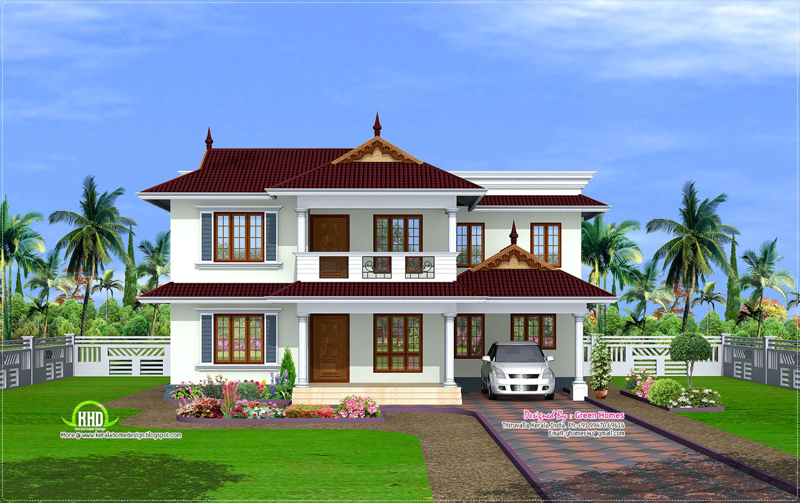 2600 kerala model house house design plans for Green homes designs