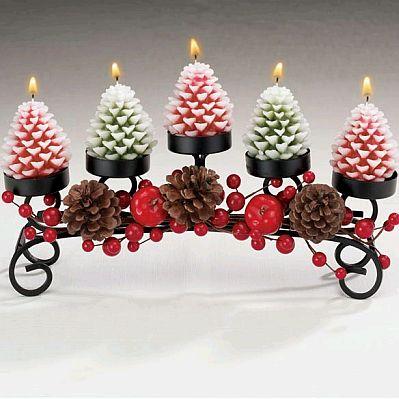Centros de mesa navidad mes de dulces pinterest for Adornos navidenos con copas y velas
