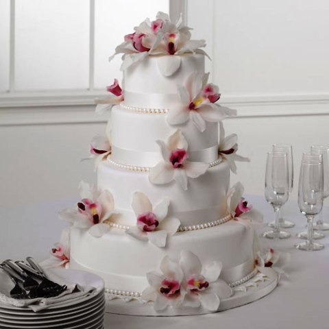 Pictures Of Flowers On Wedding Cakes