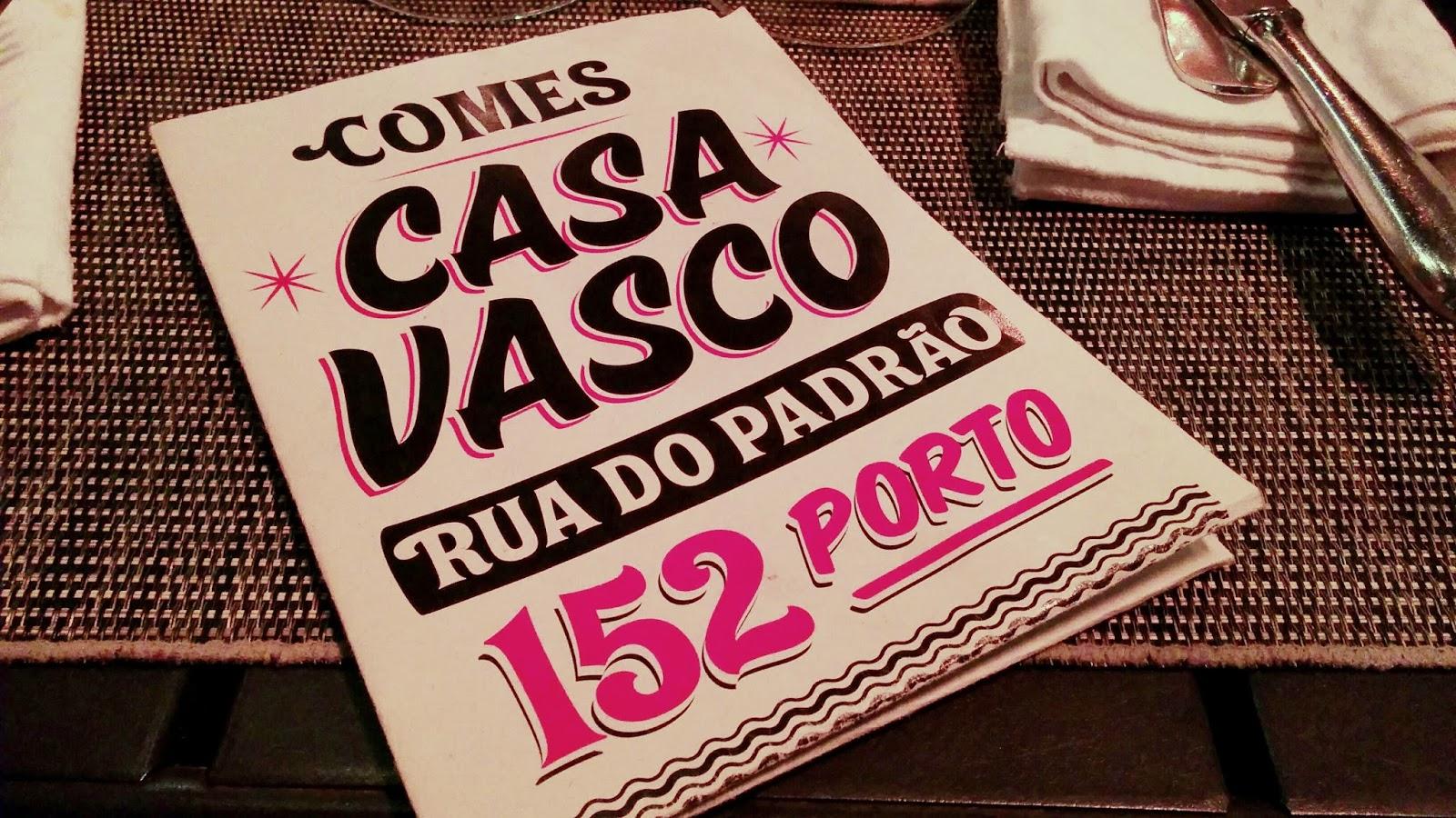 Review do restaurante Casa Vasco @Porto