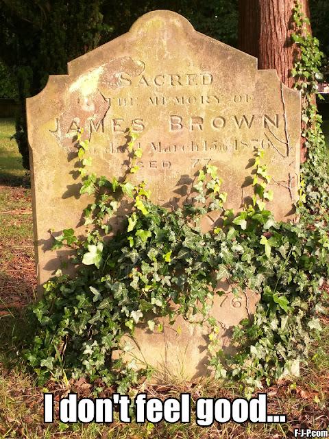 Funny James Brown Epitaph Meme - I don't feel good
