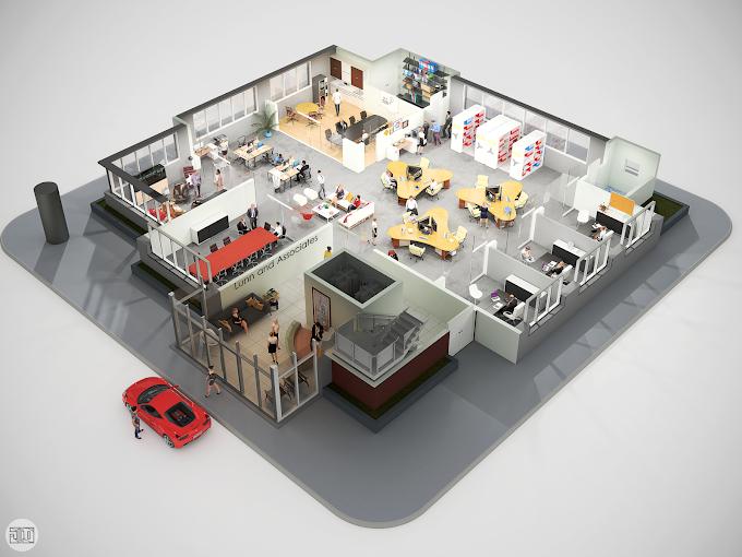 Office 3D Floor Plan