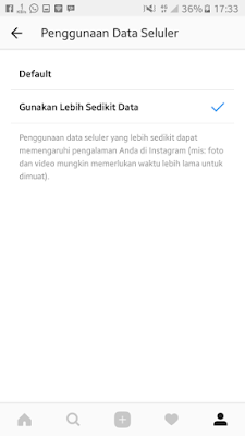 mode hemat data instagram