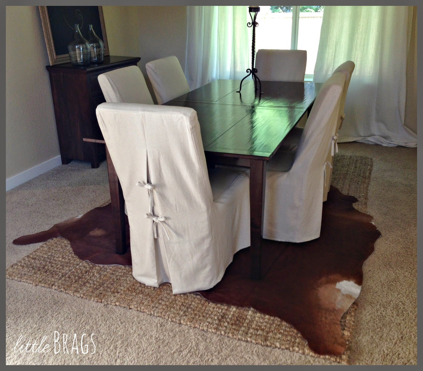 animal skin chair covers most comfortable beach little brags my first cowhide rug