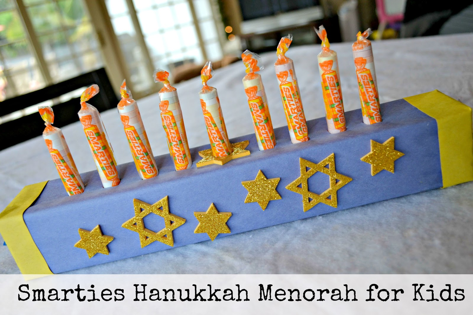 Mommy Testers: Forget the Gelt - Smarties Candy Hanukkah Menorah