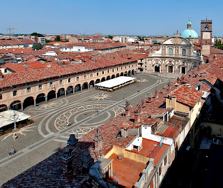 The beautiful Piazza Ducale in Vigevano