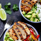 Cajun Chicken with Coriander and Lime Rice