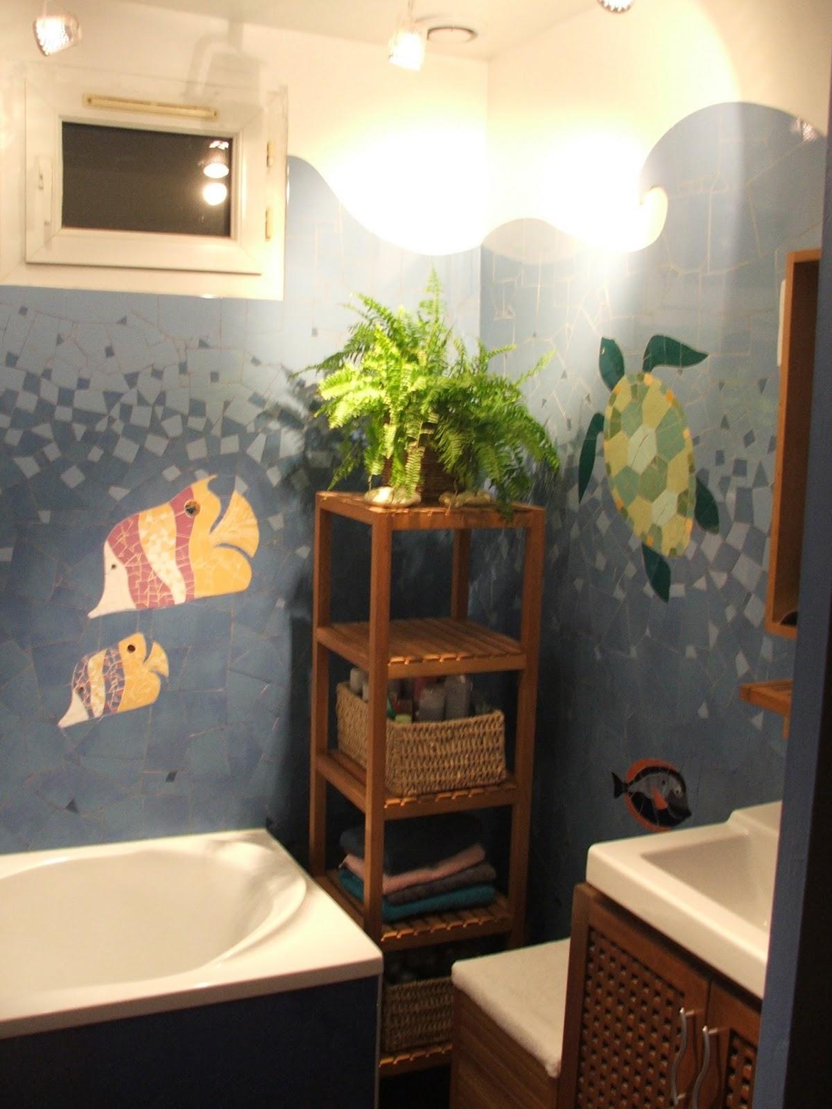 s verine peugniez cr ations fresque marine en mosa que. Black Bedroom Furniture Sets. Home Design Ideas
