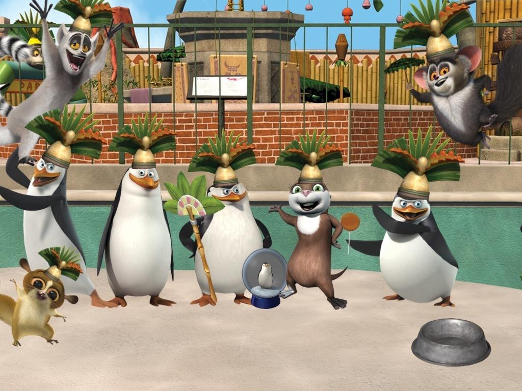Os Pinguins De Madagascar Desenho