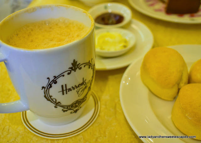 tea time in Harrods Cafe KL