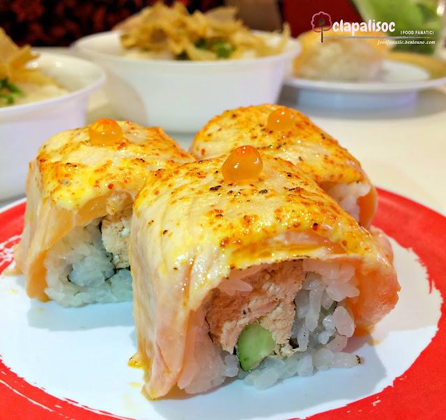Spicy Double Maki Salmon from Genki Sushi