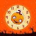 Halloween Funny Pumpkin Clock Screensaver