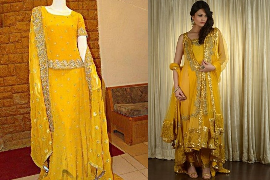 Glorious Mehndi Dresses For Bridles