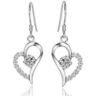 Florence Scovel Jewelry Crystal Heart Earrings