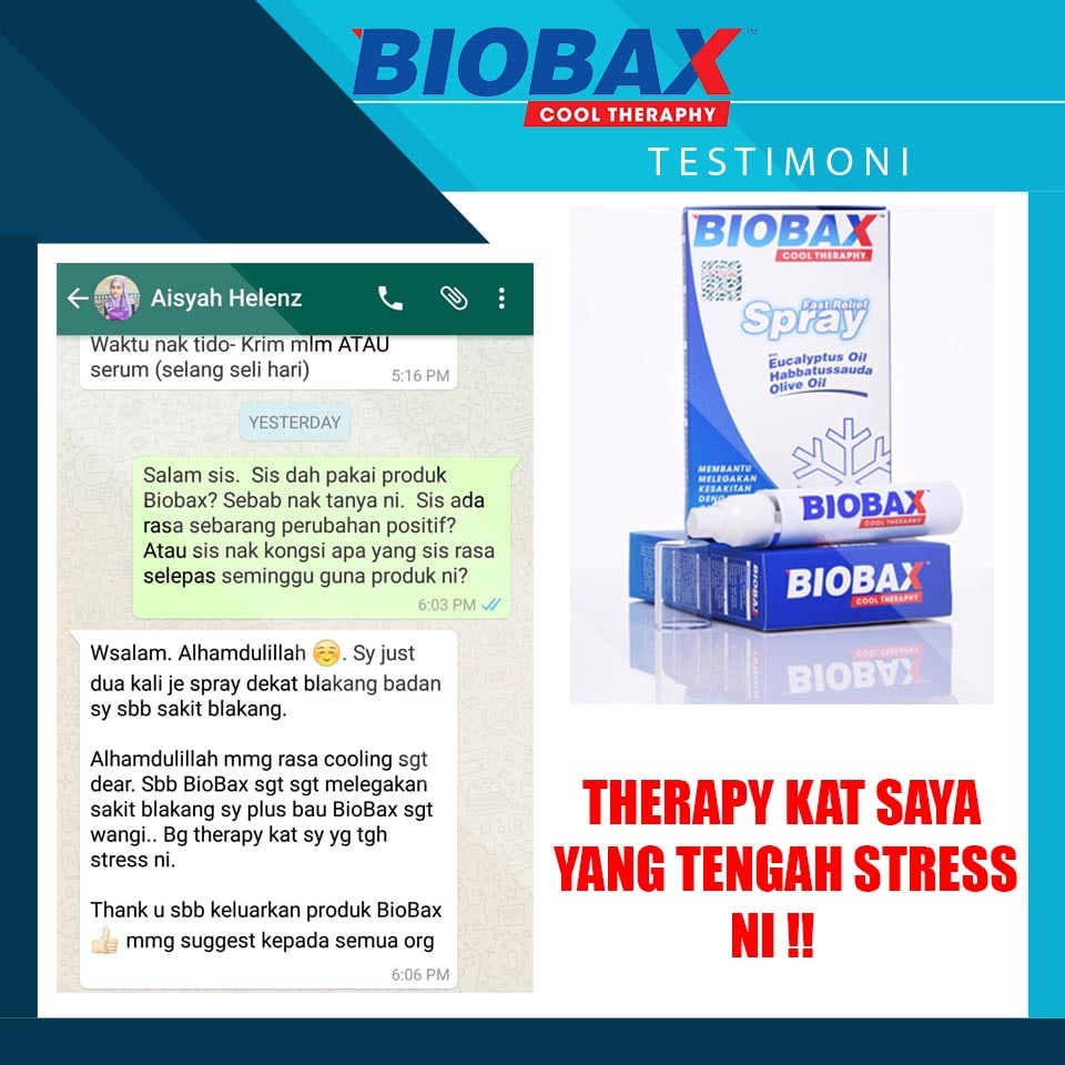 biobax spray cool theraphy stress terapi