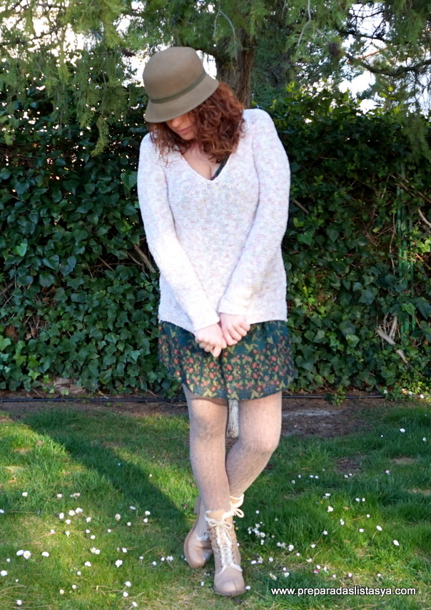 Sombrero paño verde
