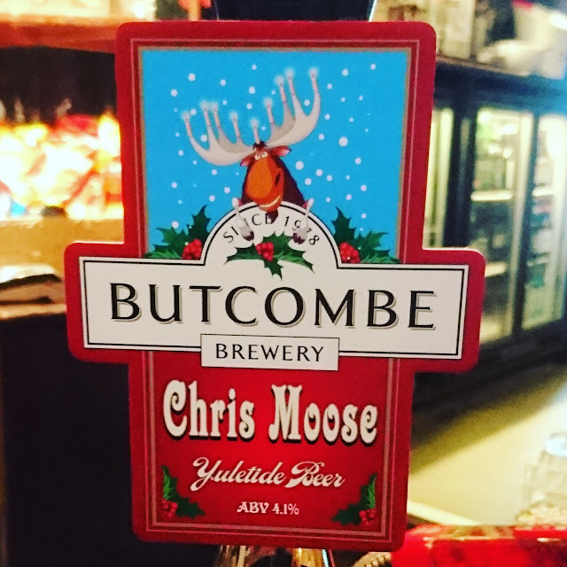 Somerset Craft Beer Review: Chris Moose real ale pump clip from Butcombe