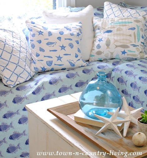DIY No Sew Slipcover with Coastal Quilt
