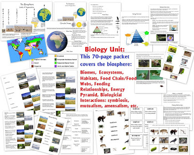 http://homeschoolden.com/2016/02/15/biology-unit-on-the-biosphere-biomes-ecosystems-habitats-feeding-relationships-biological-interactions/